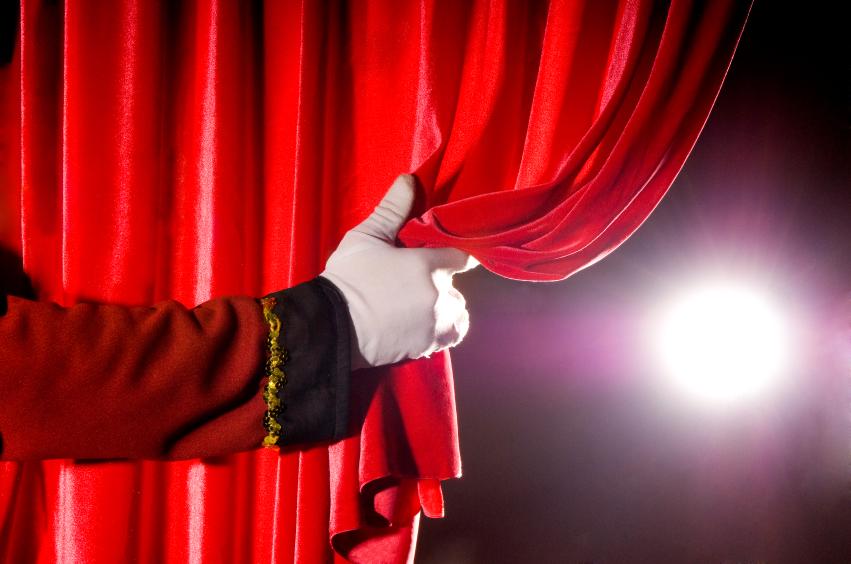 curtain with spotlight - Lisa B Marshall